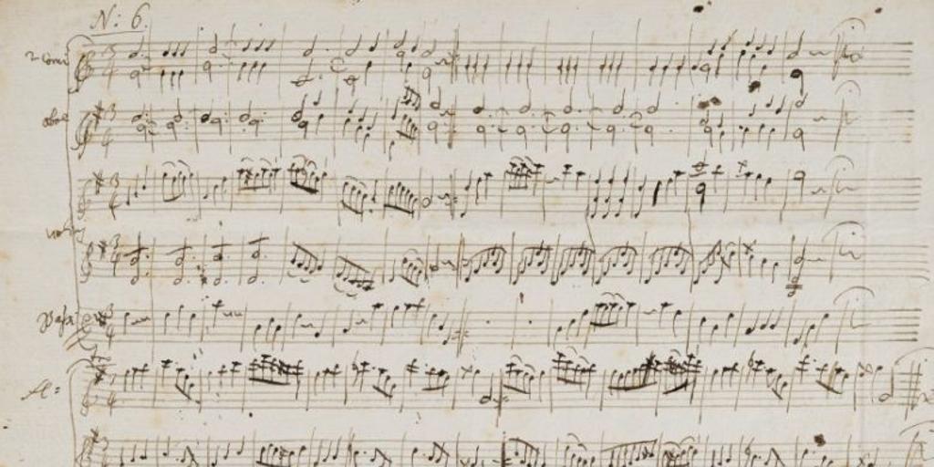 Una partitura original de Mozart, vendida por 372.500 euros