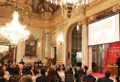Un momento de la ceremonia de entrega en el Salón Real