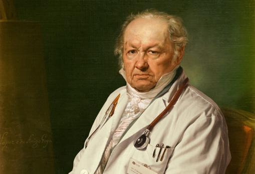 Goya, portrayed by Vicente López, Museo del Prado. Detail