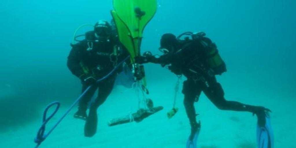 Encuentran en el fondo del mar un ancla dedicada a la diosa Afrodita de hace 2.300 años