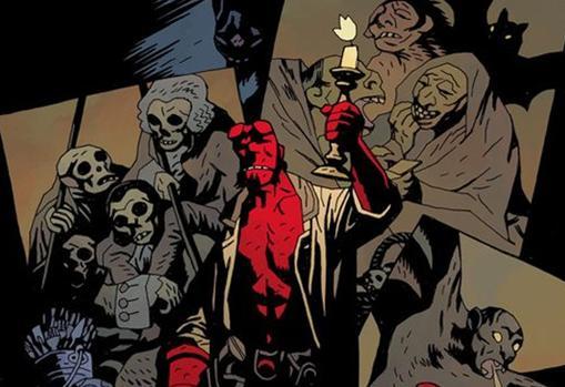 Detalle de 'Hellboy', de Mike Mignola