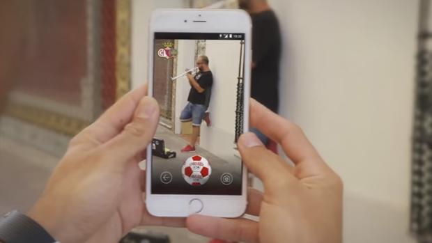 Una imagen del vídeo dado a conocer por el Chiclana CF