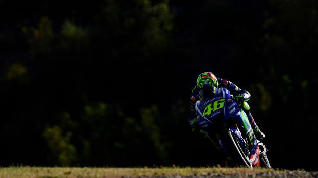 Rossi, en el Gran Premio de España