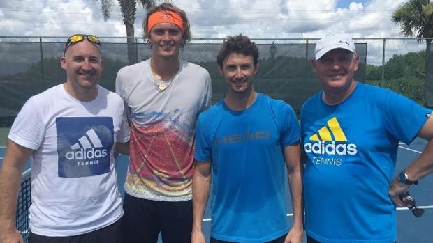 Juan Carlos Ferrero ya se entrena con Alexander Zverev