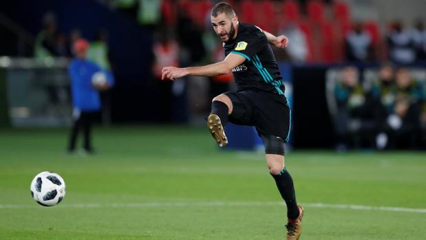Benzema, en la semifinal del Mundial de Clubes contra el Al Jazira