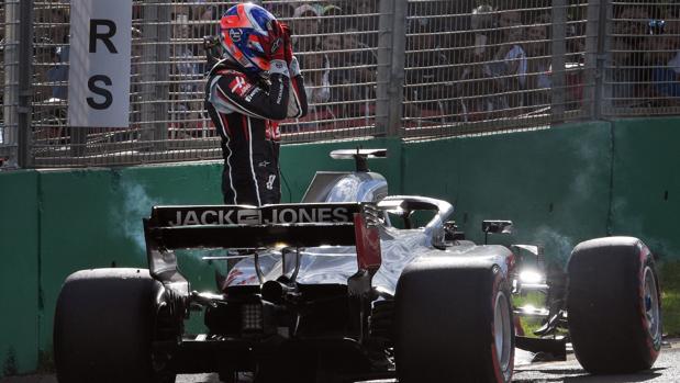 Grosjean, tras los problemas en su monoplaza