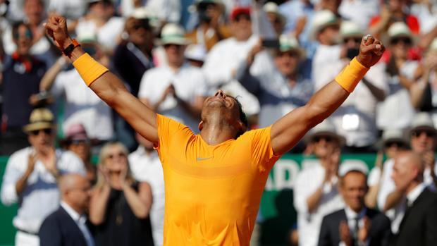 Rafa Nadal celebra su undécimo título en Montecarlo, su Masters 1.000 número 31