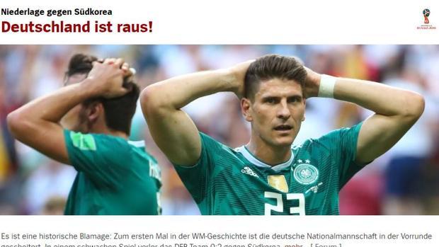 Portada digital del diario alemán Spiegel