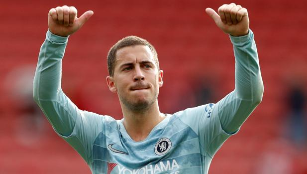 Hazard, tras un partido con el Chelsea