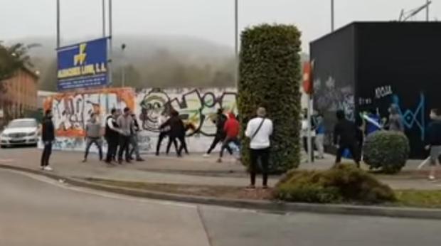 Pelea entre radicales de la Gimnástica Torrelavega y la UD Logroñés