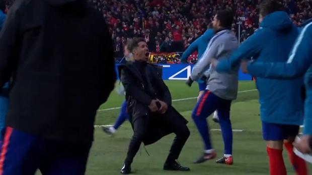 El gesto de Simeone en el partido ante la Juventus