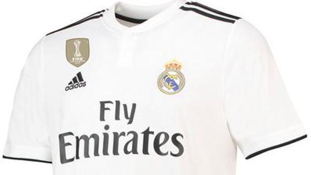 Detalle de la camiseta del Real Madrid para la temporada 2018-2019