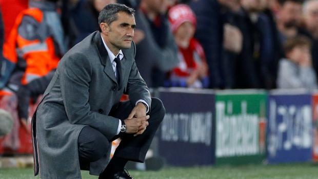 Valverde, durante el partido