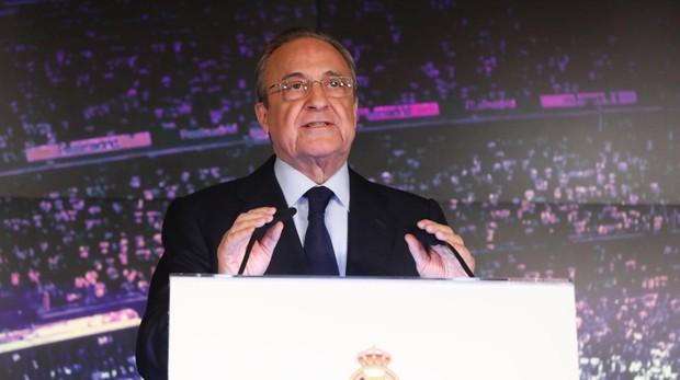Florentino Pérez en rueda de prensa