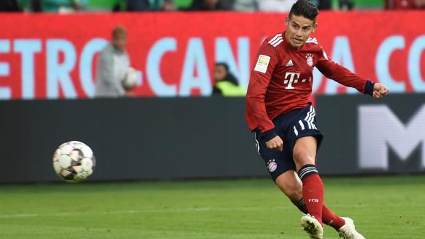 James Rodríguez en un partido de la Bundesliga