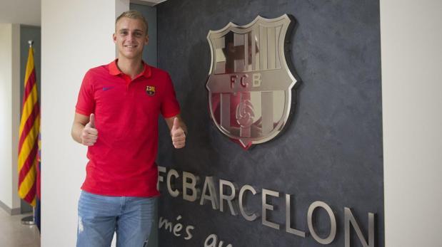 Jasper Cillessen en las oficinas del Barcelona