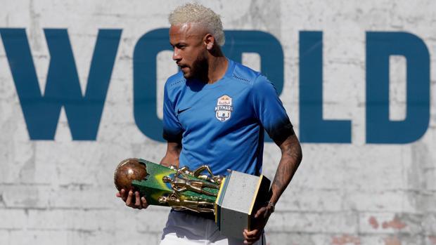 Neymar durante un torneo disputado en Brasil la semana pasada