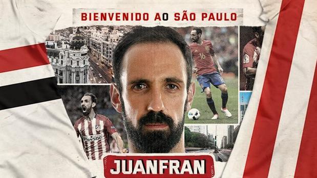 La bienvenida de Juanfran al club brasileño