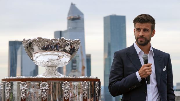 Piqué presenta en Nueva York la Copa Davis