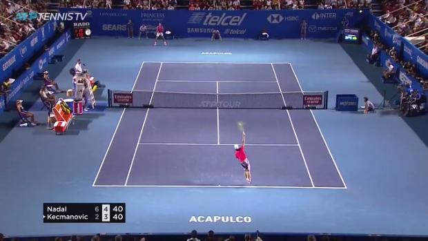 Nadal pone en pie Acapulco con su respuesta a un mate ganador de Kecmanovic