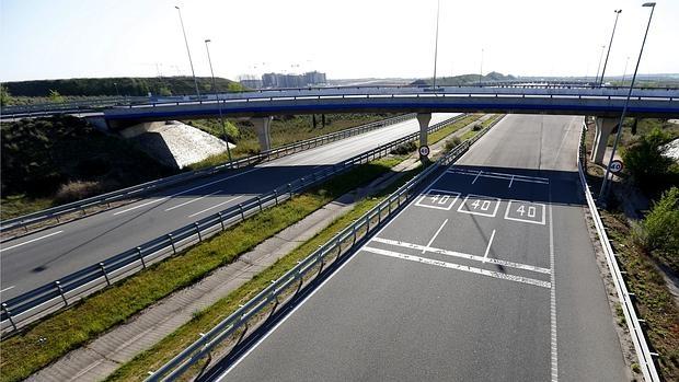 Imgen de una autopista de peaje madrileña