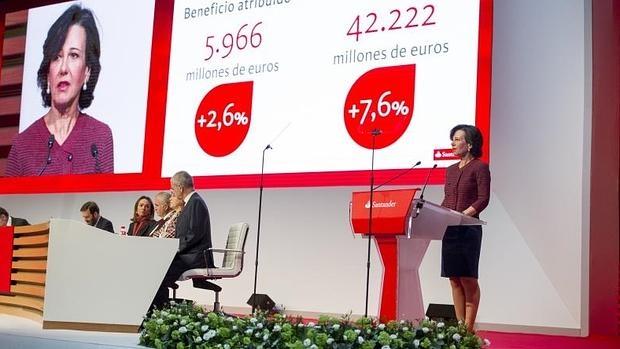 Junta de accionistas del Banco Santander