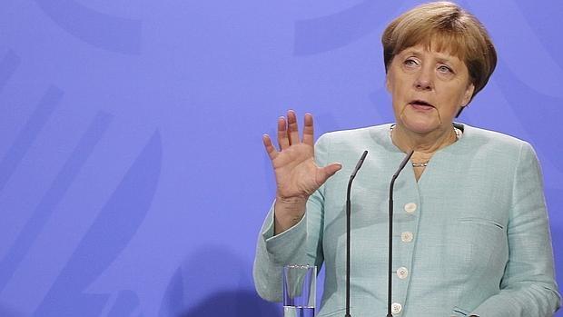 Angela Merkel, en una rueda de prensa