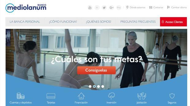 Página web de Mediolanum
