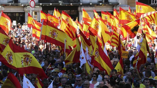 Manifestación a favor de la unidad de España el pasado mes de octubre