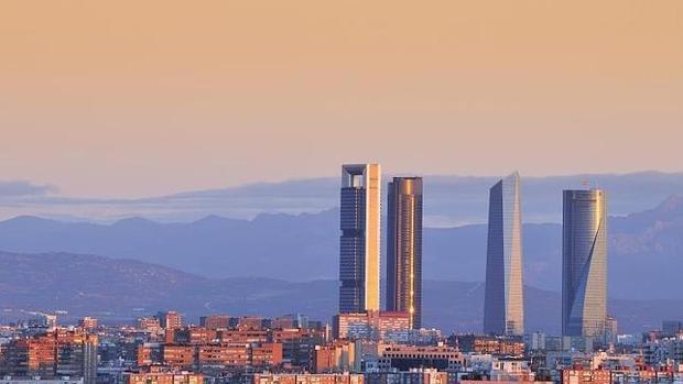 Skyline de Madrid, con el complejo de las Cuatro Torres