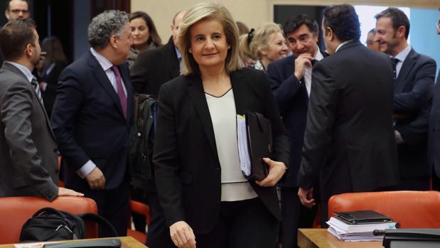 La ministra de Empleo, Fátima Báñez, en una reciente comparecencia en el Pacto de Toledo