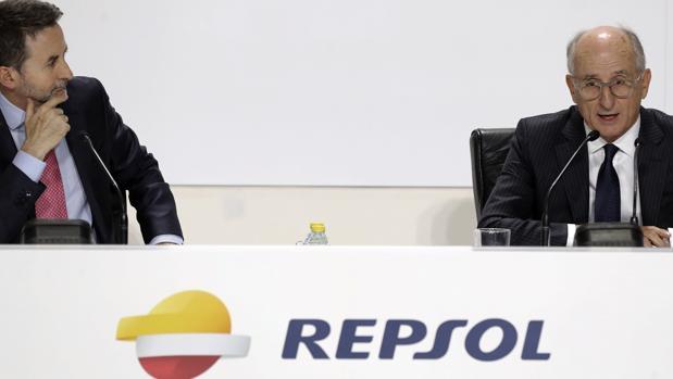 Imaz y Brufau, hoy, en la junta de accionistas