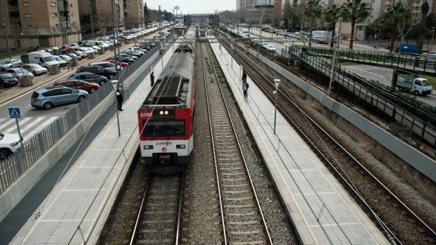 Línea de Cercanías en Cataluña