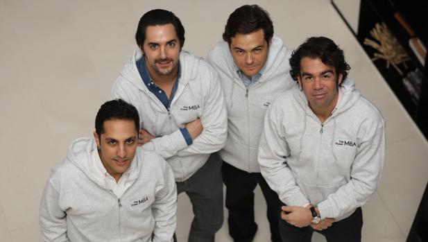Los cuatro fundadores de The Power MBA