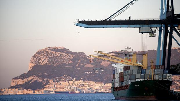Vista del puerto de Algeciras