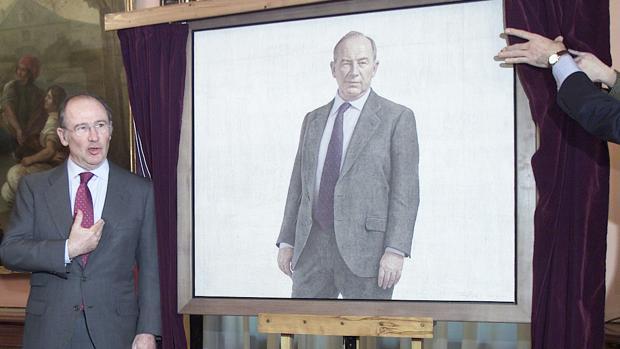 Rodrigo Rato, el día que presentaron su retrato en el Ministerio
