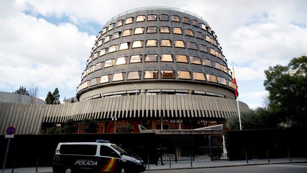 Fachada de la sede del Tribunal Constitucional en Madrid