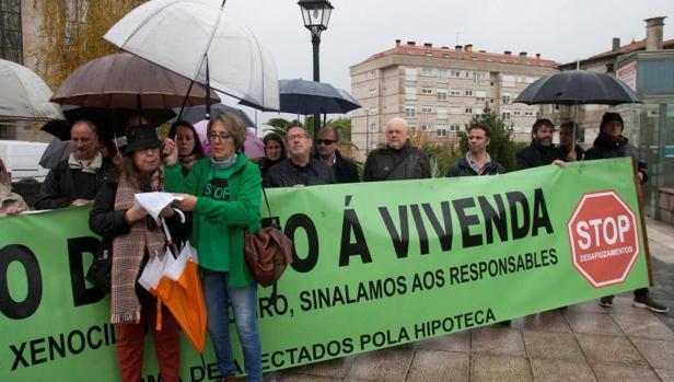 Protesta de afectados por la hipoteca