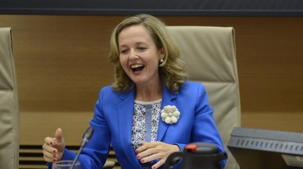 La ministra de Economía, Nadia Calviño,