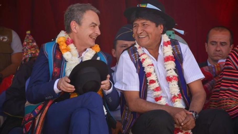 Zapatero elogia a Evo Morales, que expropió a Repsol, Iberdrola, REE, Abertis y Aena en Bolivia