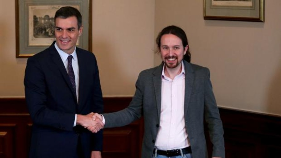 The Government of Sánchez and Iglesias with separatists already frightens investors