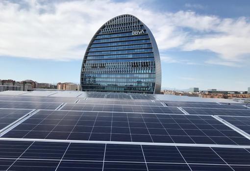 Self-consumption installation for BBVA - EDF Solar
