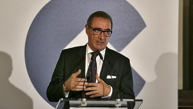 Imagen de Carlos Herrera durante un coloquio celebrado en Sevilla
