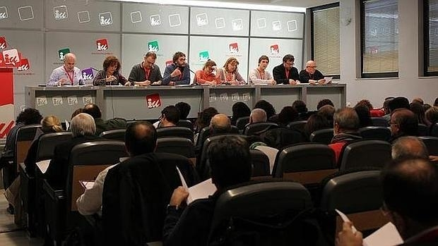 Una de las últimas reuniones del comité ejecutivo de IU Madrid