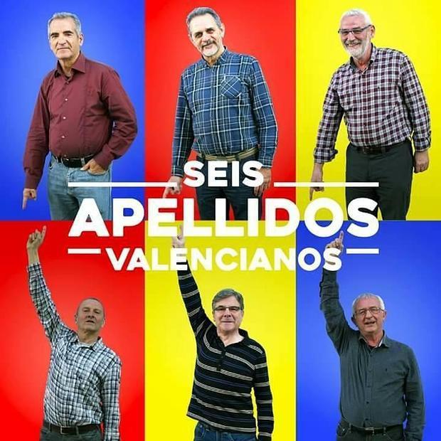 Imagen del «reparto» de «Seis apellidos valencianos»