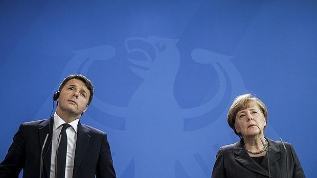 Matteo Renzi y Angela Merkel