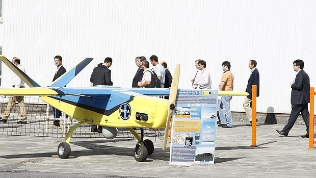 Uno de los drones que el Ministerio de Defensa tiene en Rozas, donde la Xunta quiere generar un polo aeronáutico con fines civiles