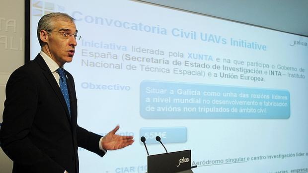 Francisco Conde, conselleiro de Economía e Industria de la Xunta, al explicar la adjudicación de Rozas