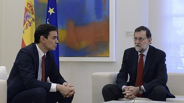 Rajoy y Sánchez, en una de sus últimas reuniones