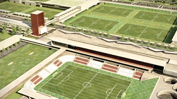 Recreación de la futura ciudad deportiva del Atlético de Madrid, «congelada» por el Supremo
